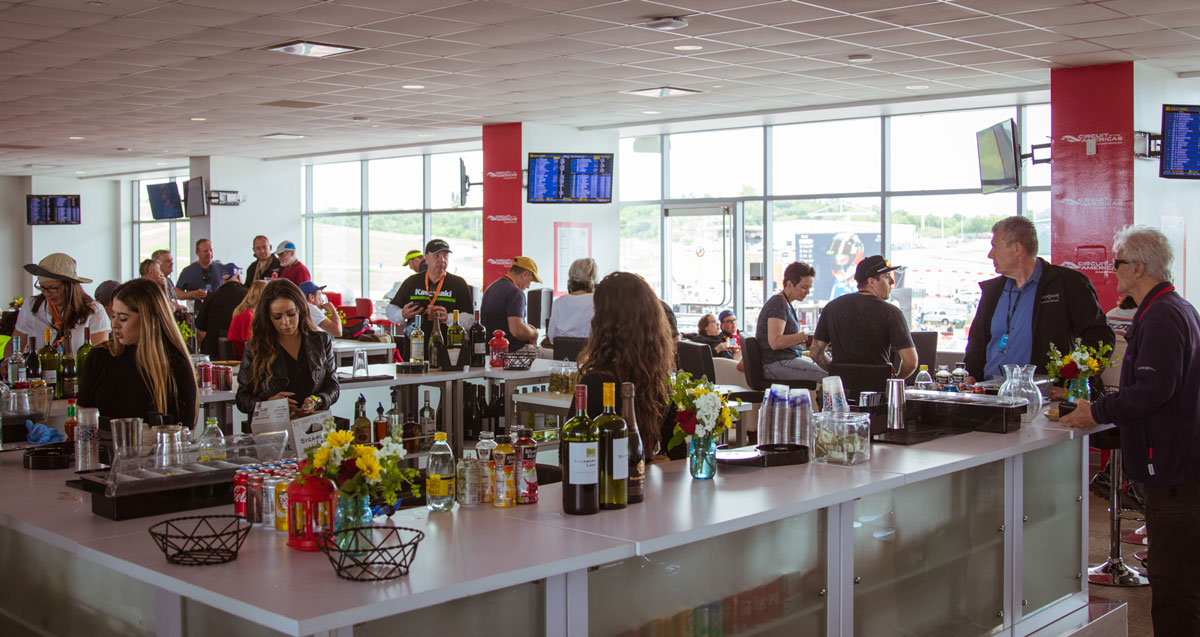MotoGP Austin VIP Hospitality bar
