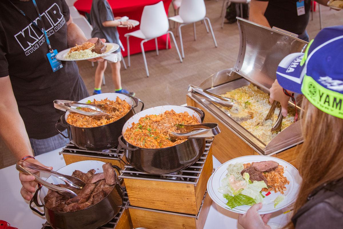 MotoGP Austin VIP Hospitality buffet