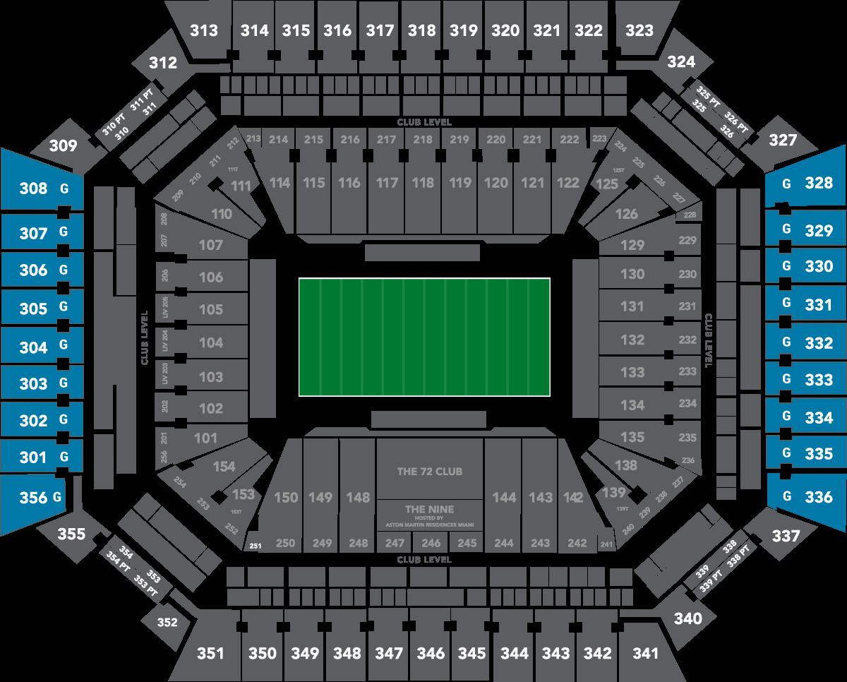 Upper Level Seating 2020 Super Bowl