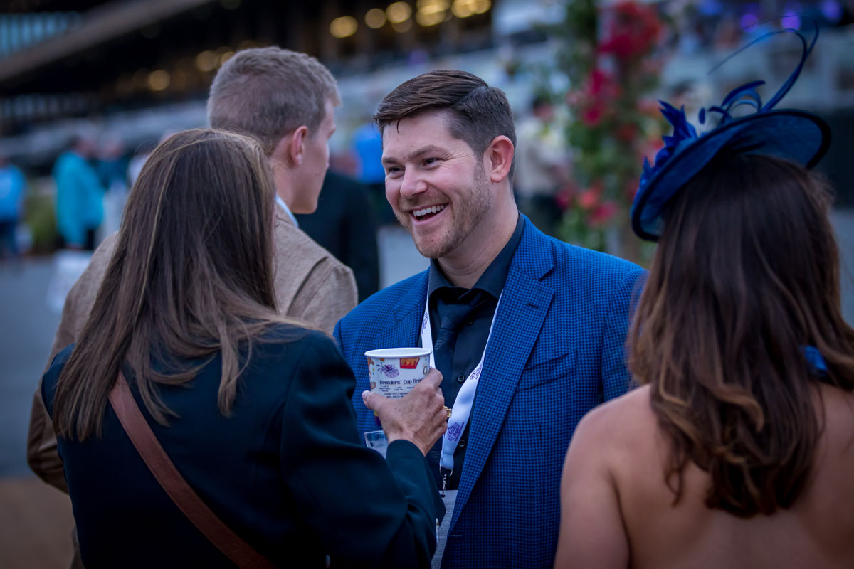 people in Breeders Cup Experience hospitality at the breeders cup world championships