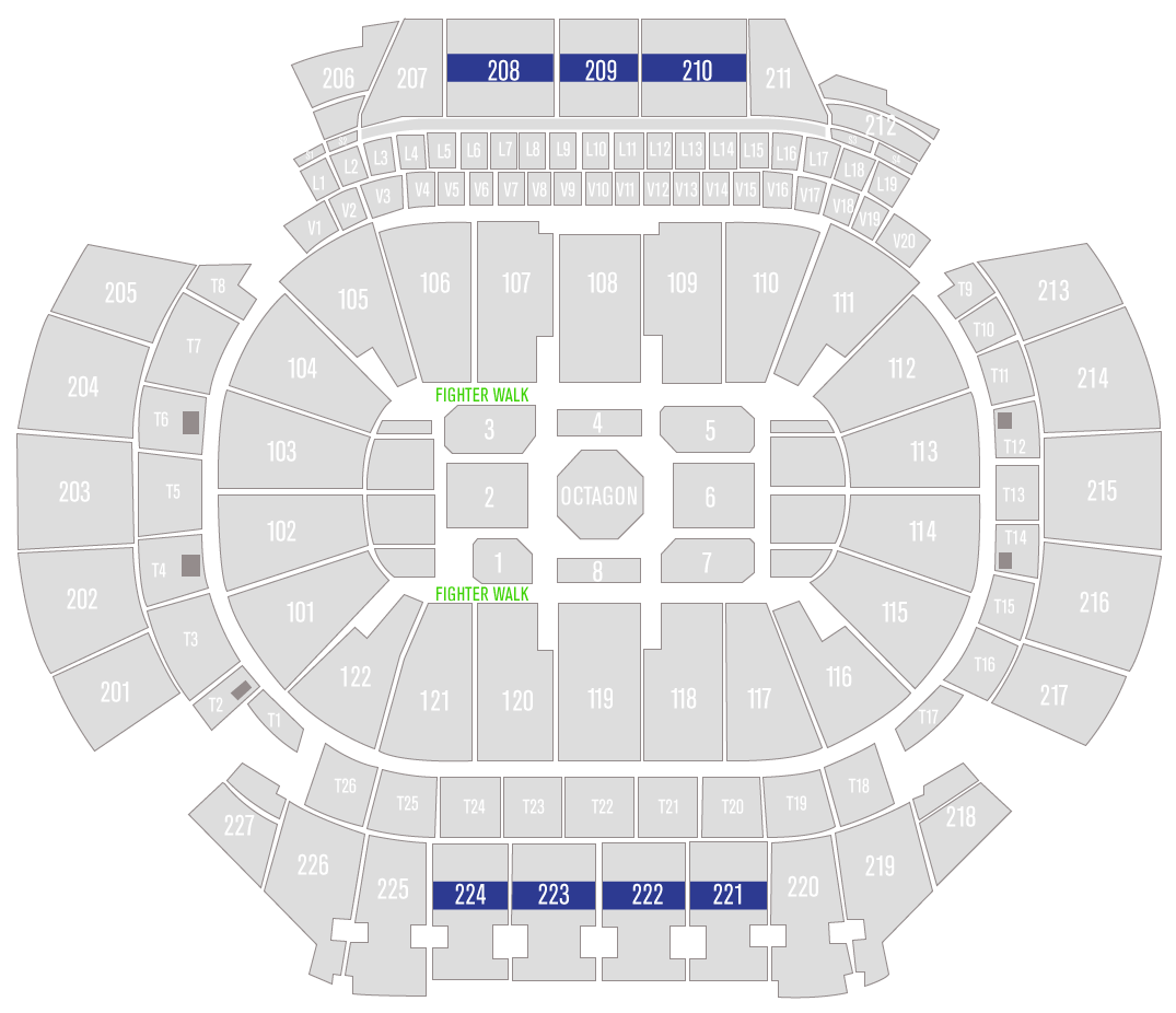 UFC 236 State Farm Arena Seating Chart