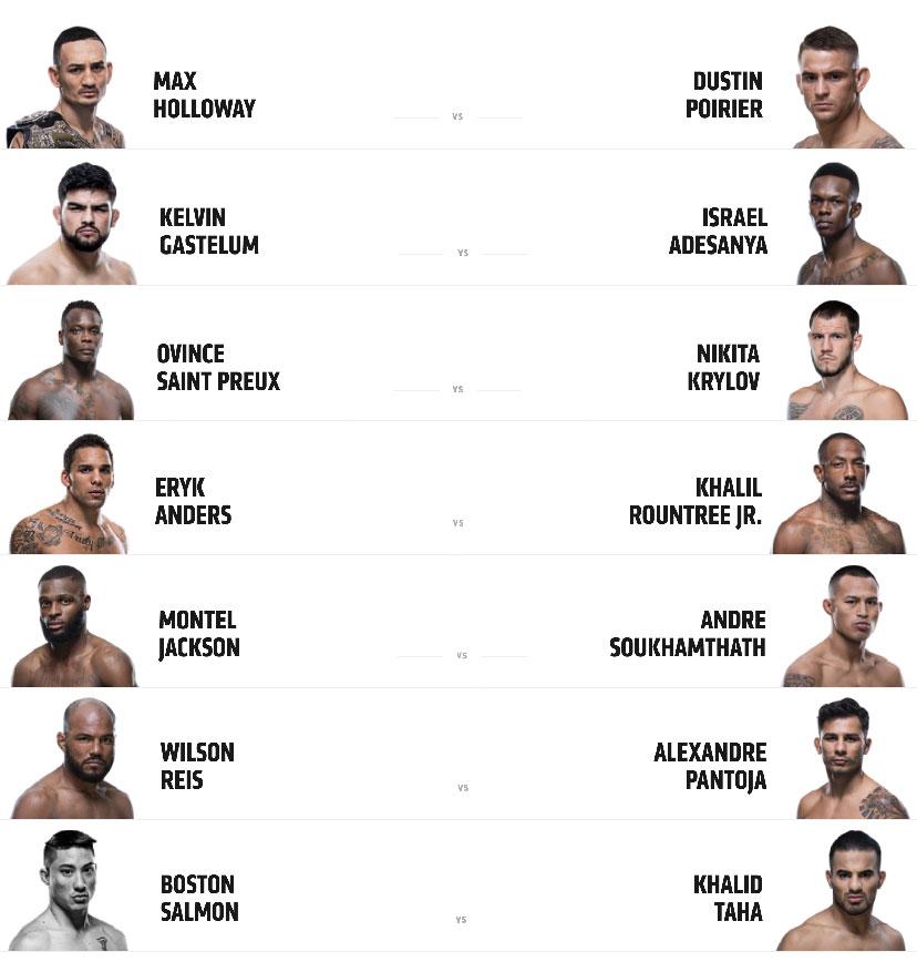 UFC 236 fight card