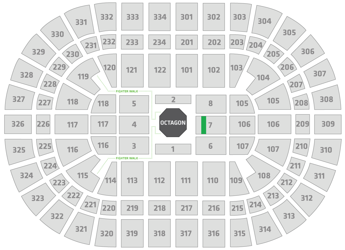 UFC 238 United Center Seating Chart Contender