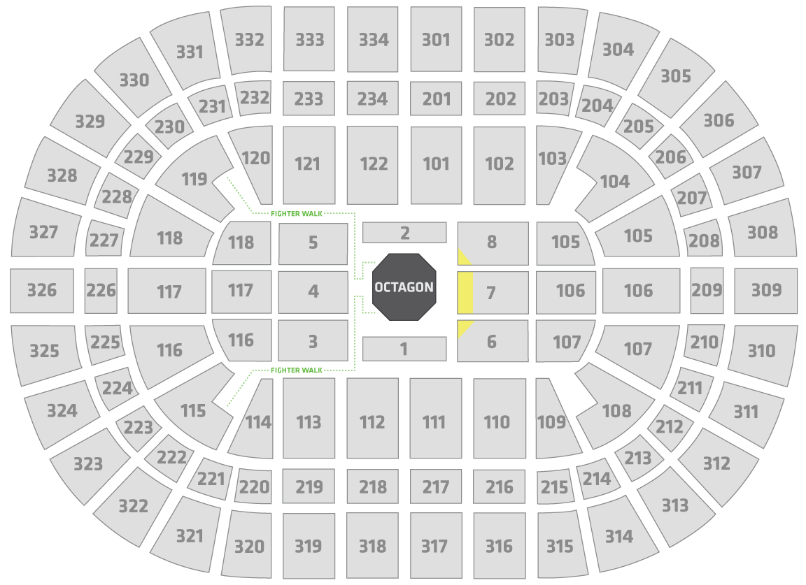 UFC 238 United Center Seating Chart Challenger
