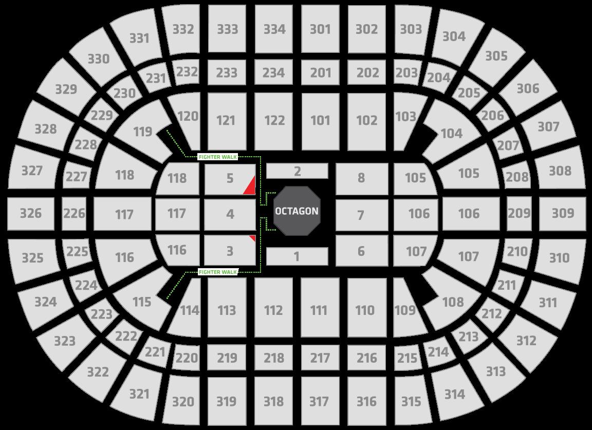 UFC 238 United Center Seating Chart Champion