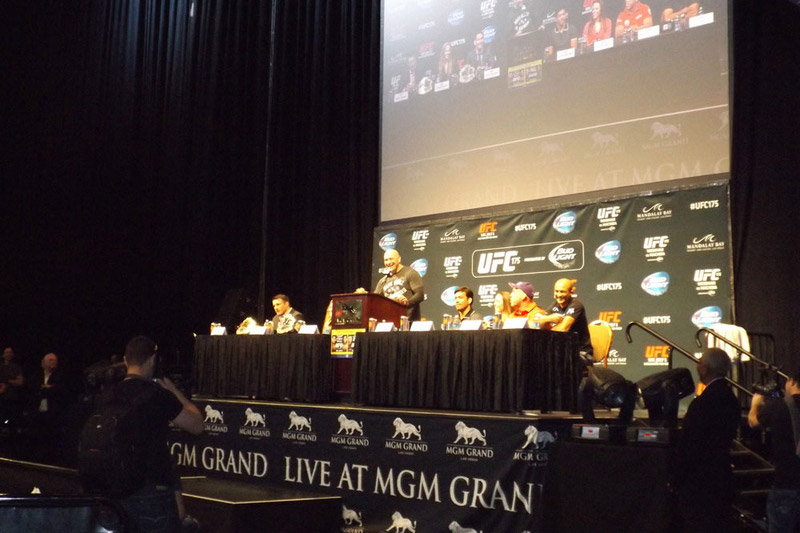 UFC Fighters at weigh in
