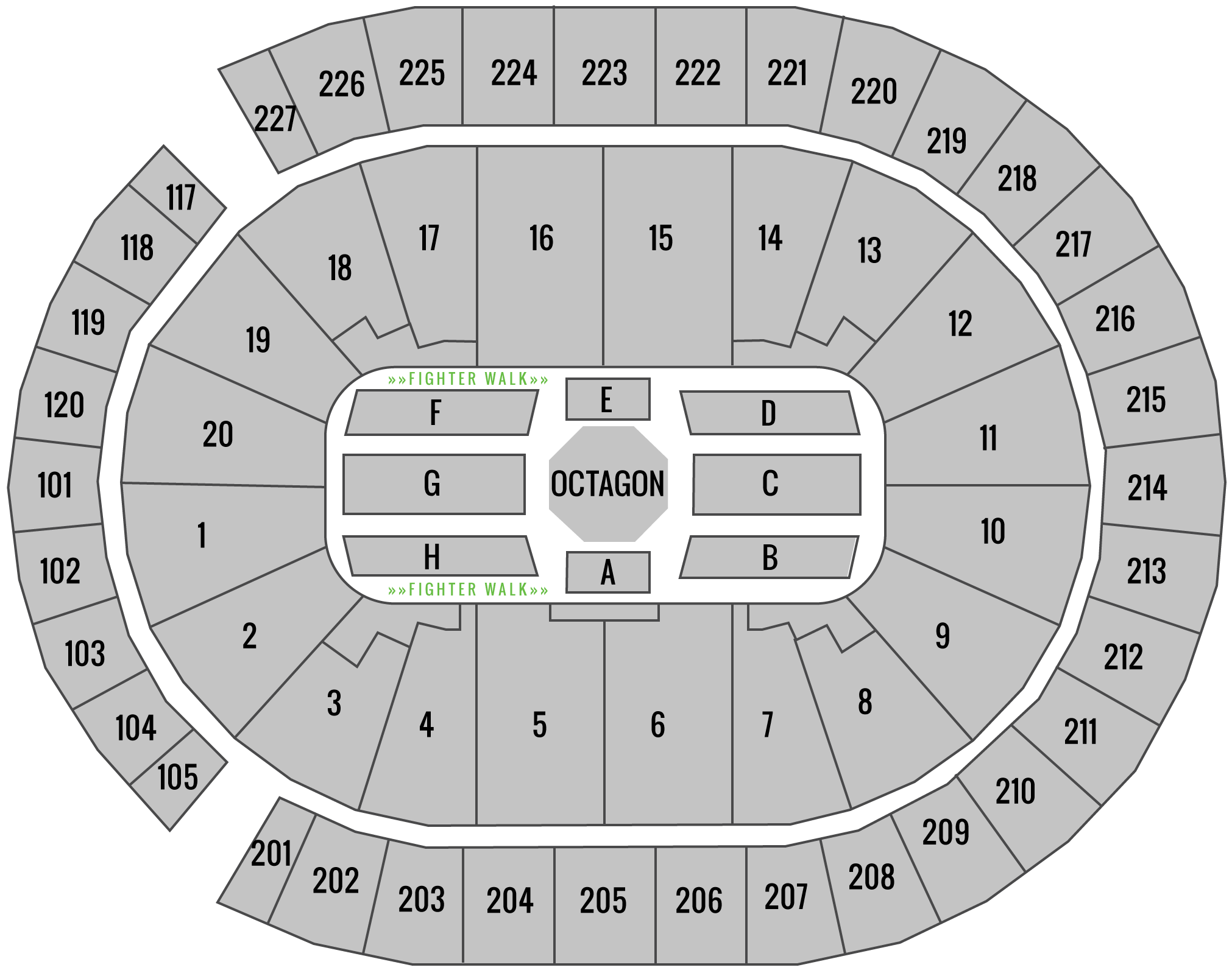 UFC 239 T-Mobile Seating Chart Superfan