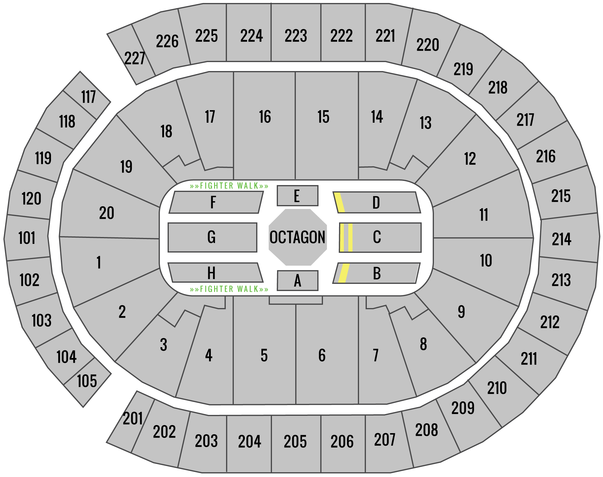 UFC 239 T-Mobile Arena Seating Chart Challenger