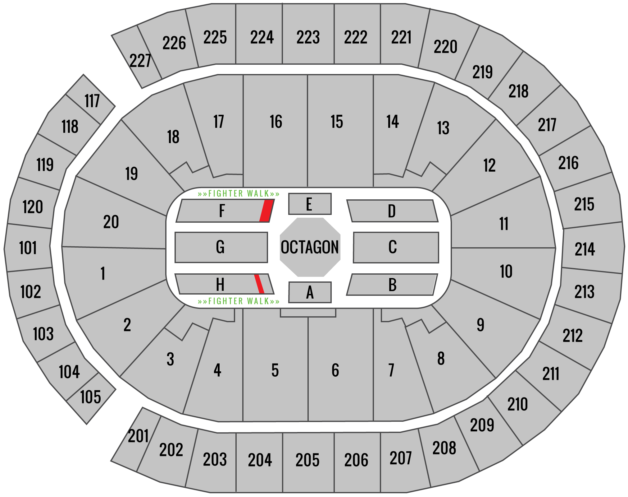UFC 239 T-Mobile Arena Seating Chart Champion