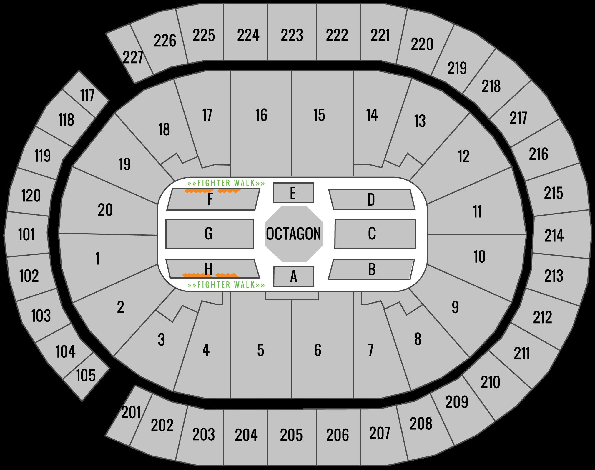 UFC 239 United Center Seating Chart Edge