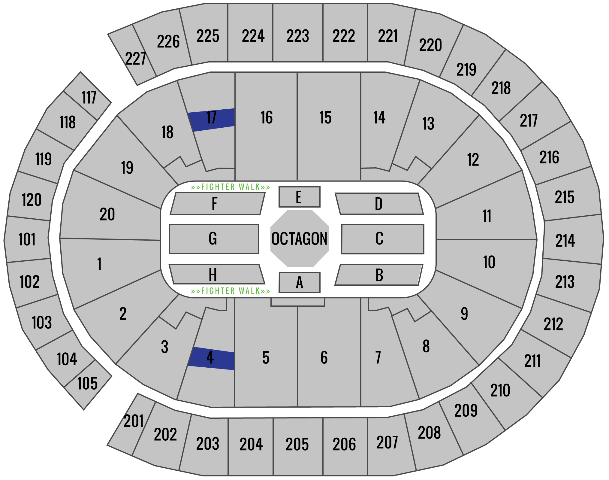 UFC 239 T-Mobile Arena Seating Chart Fan