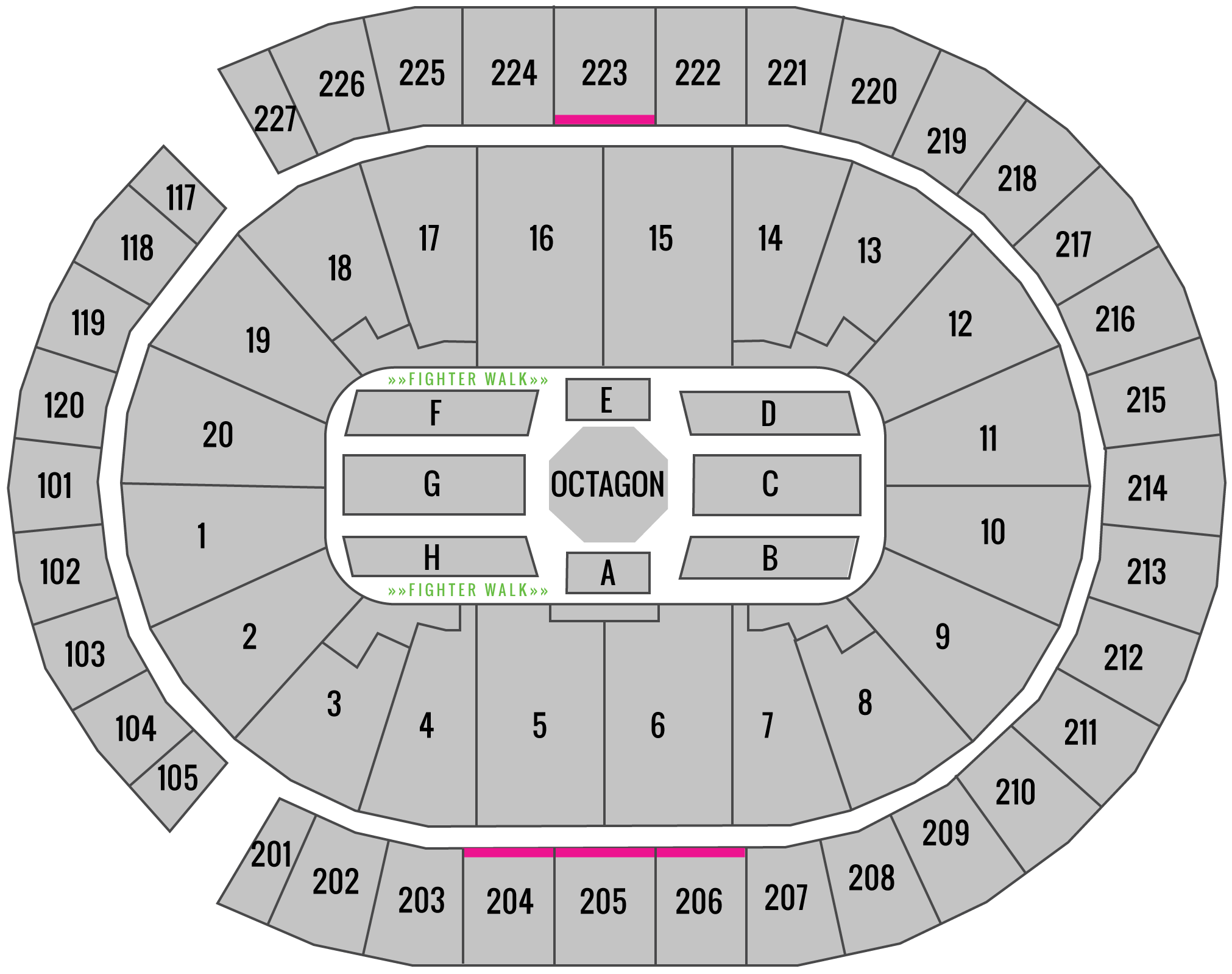 UFC 239 T-Mobile Arena Seating Chart Uppercut