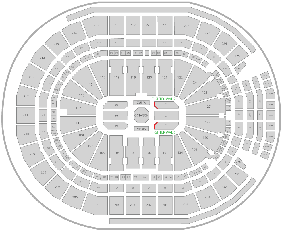 UFC 240 Rogers Place Arena Seating Chart Champion