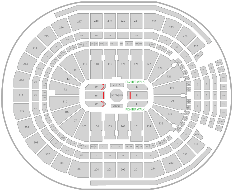 UFC 240 Rogers Place Arena Seating Chart Contender