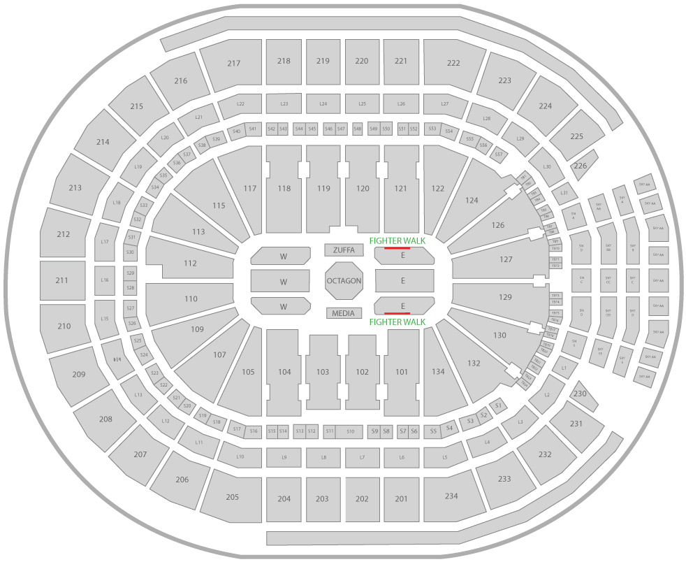 UFC 240 Rogers Place Arena Seating Chart Edge