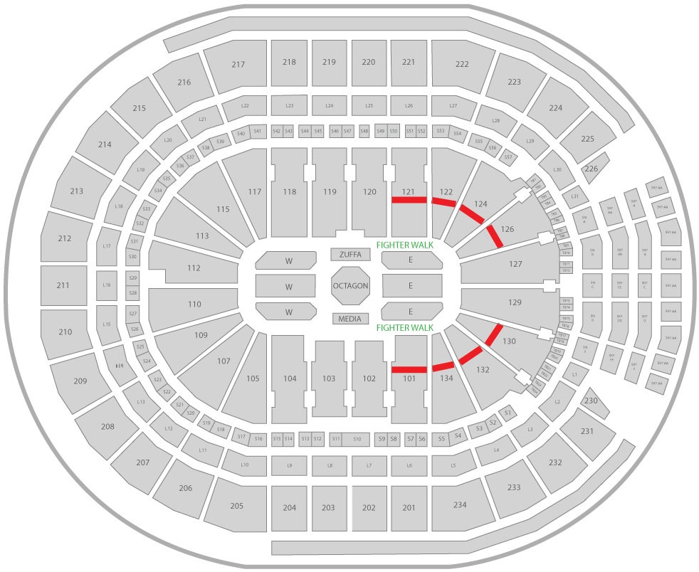 UFC 240 Rogers Place Arena Seating Chart Fan