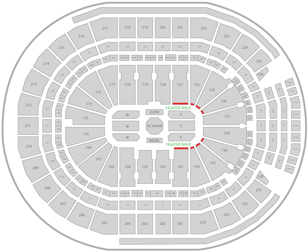 UFC 240 Rogers Place Arena Seating Chart Superfan