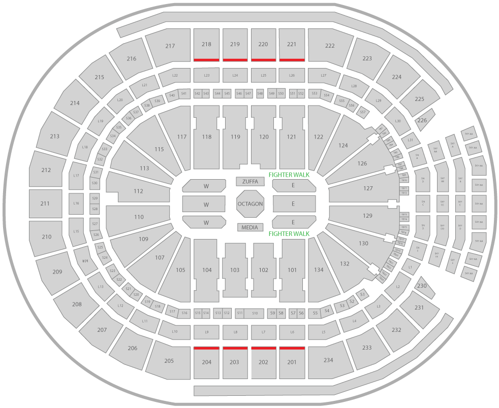 UFC 240 Rogers Place Arena Seating Chart Uppercut