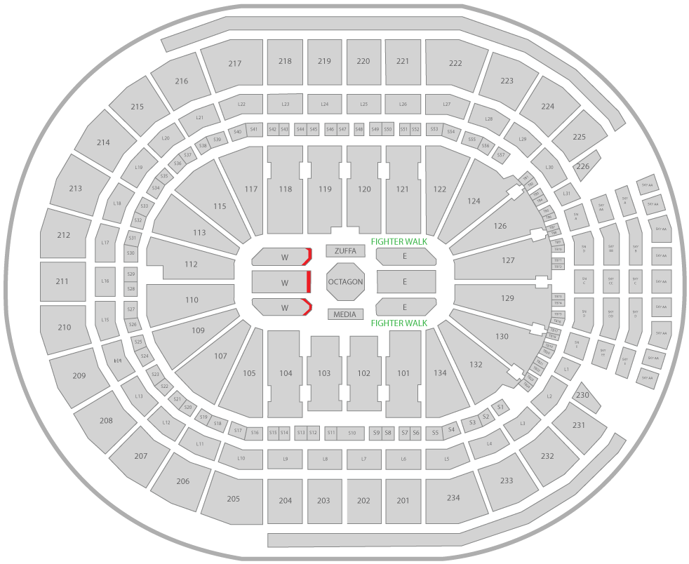 UFC 240 Rogers Place Arena Seating Chart Challenger