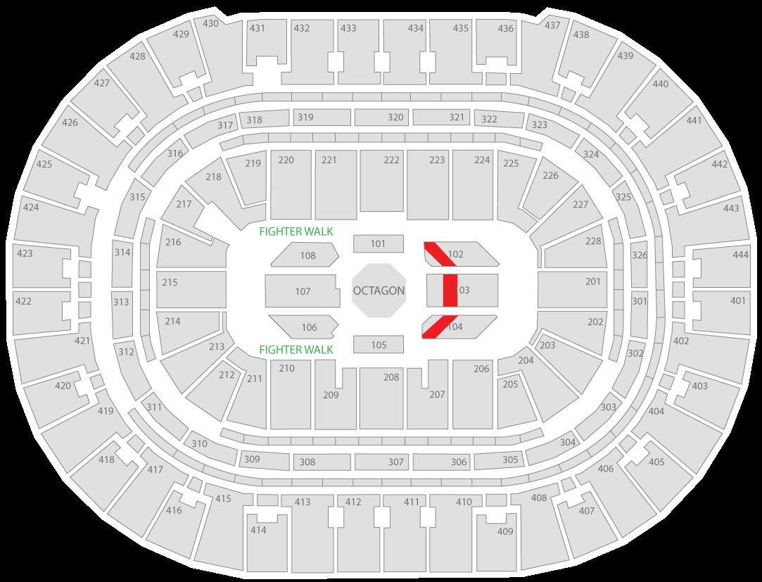 UFC 241 Honda Center Seating Chart Contender