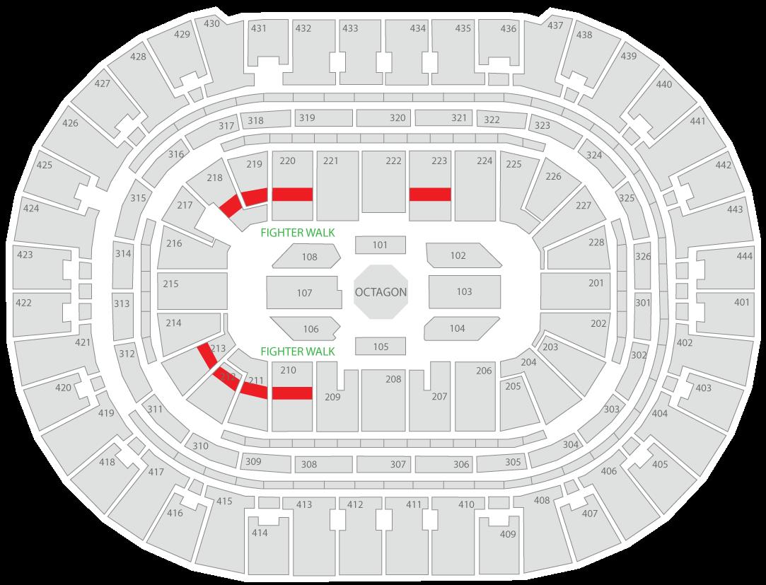 UFC 241 Honda Center Seating Chart Fan