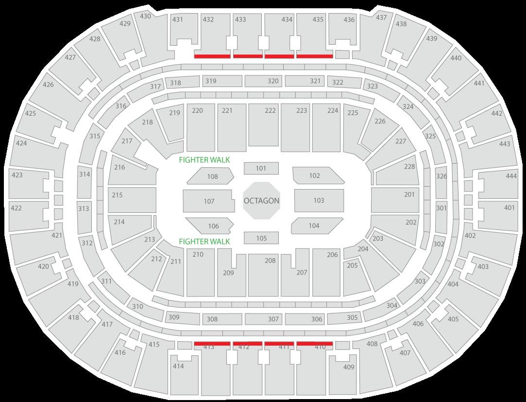 UFC 241 Honda Center Seating Chart Uppercut