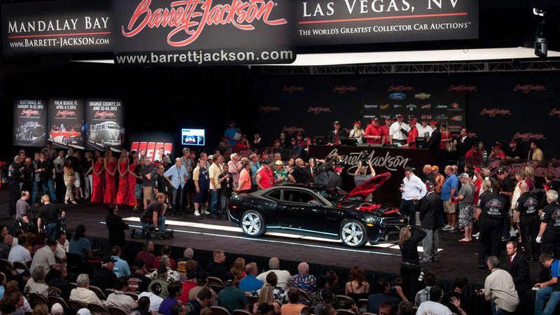 barrett jackson car being auctioned