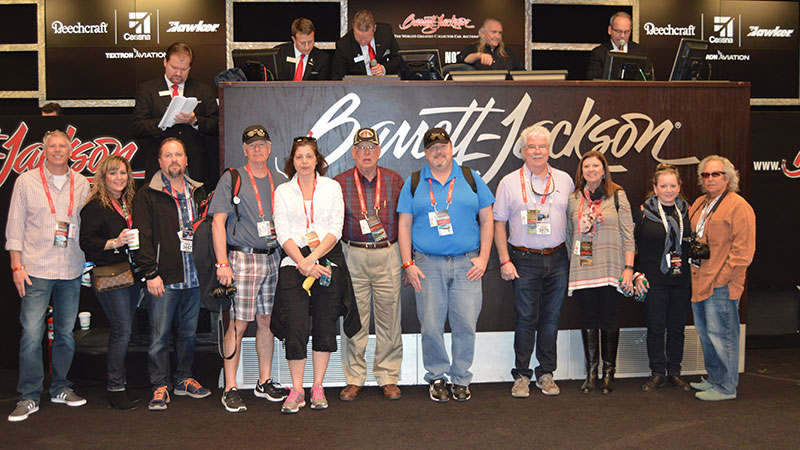 group photo at barrett jackson