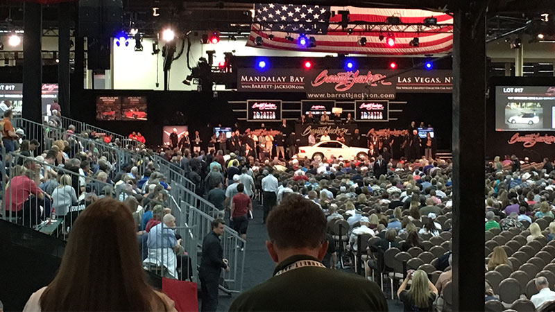 view of the barrett jackson stage