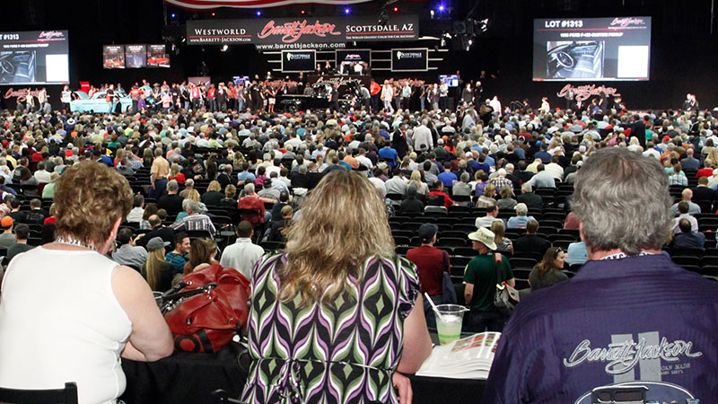 barrett jackson auction view from the luxury lounge