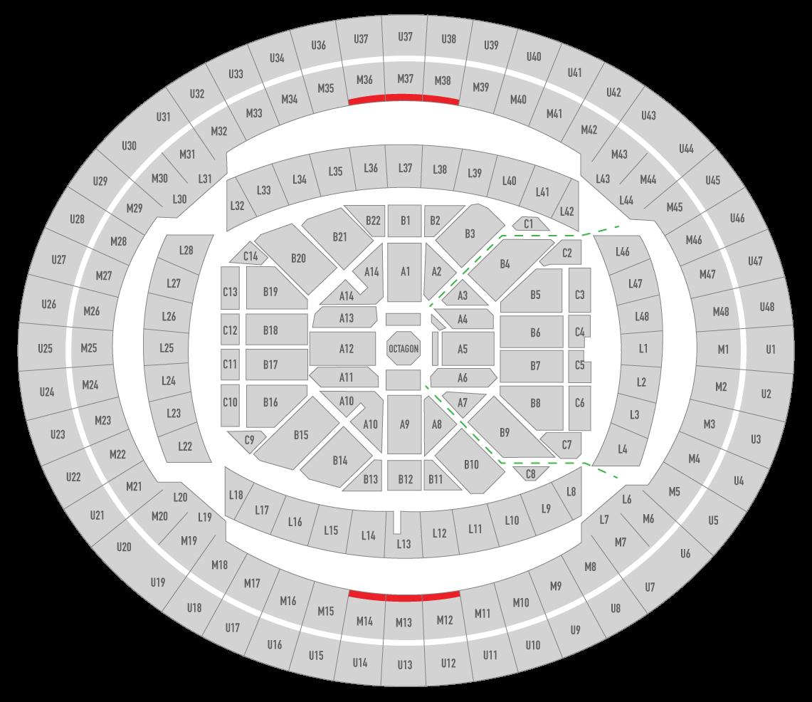 UFC 243 Marvel Stadium Seating Chart Uppercut