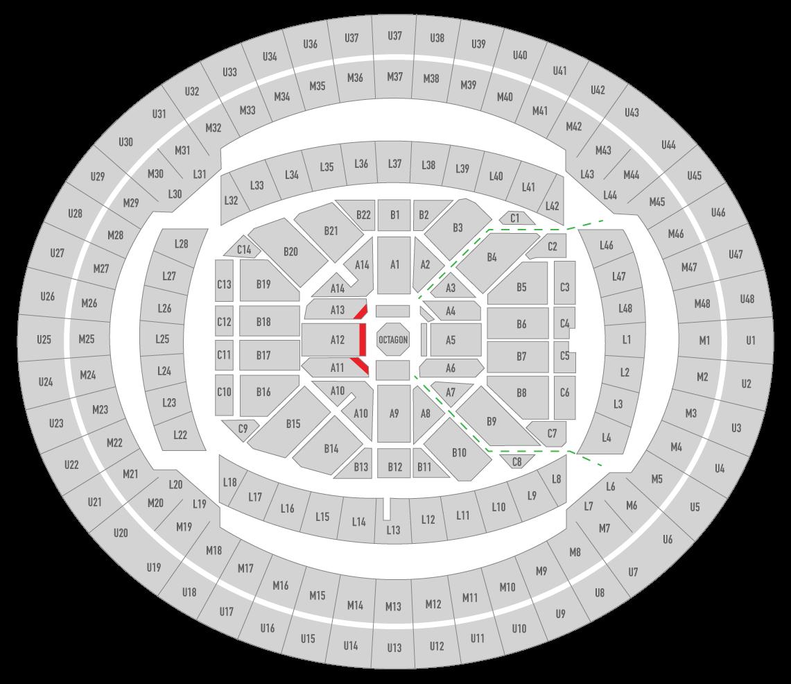UFC 241 Honda Center Seating Chart Challenger