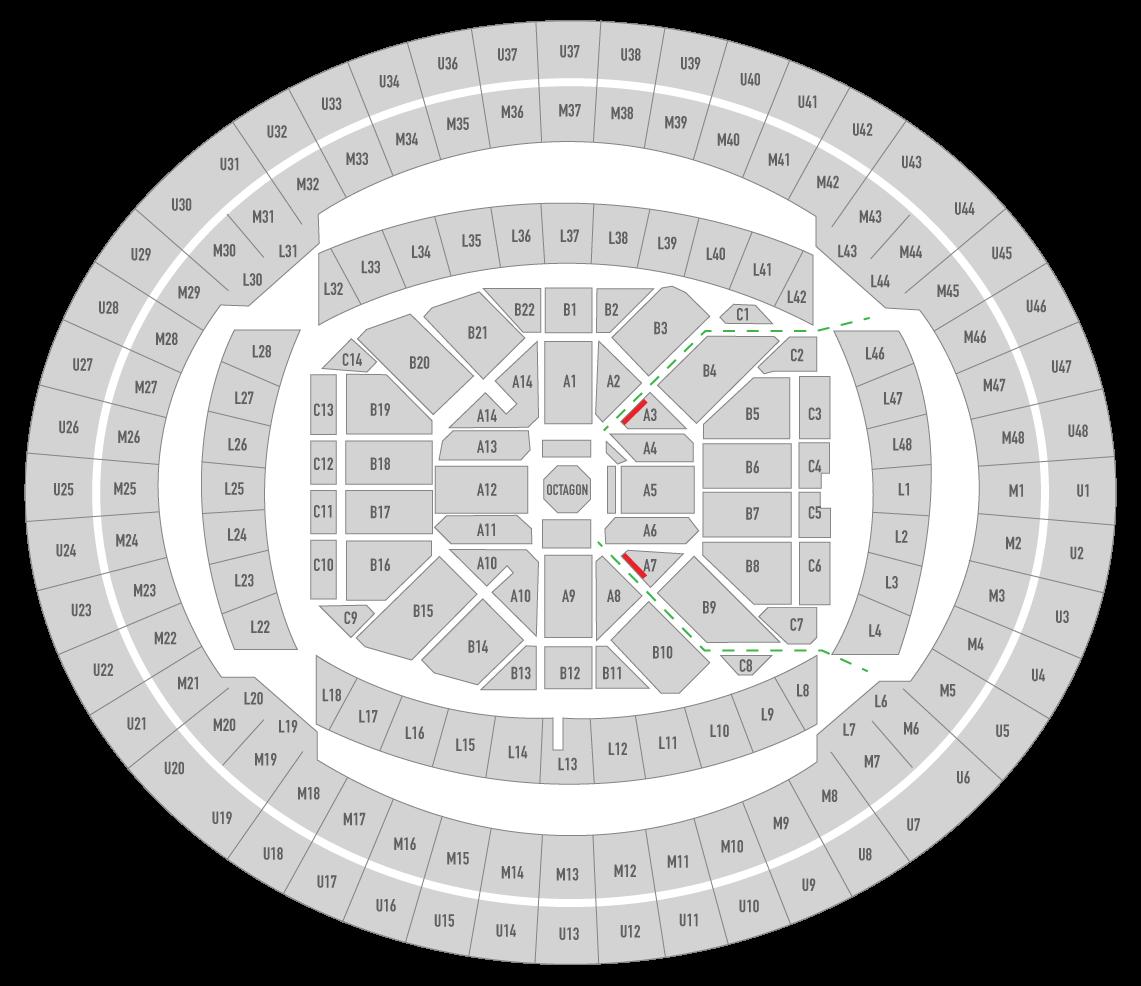 UFC 243 Marvel Stadium Seating Chart Edge