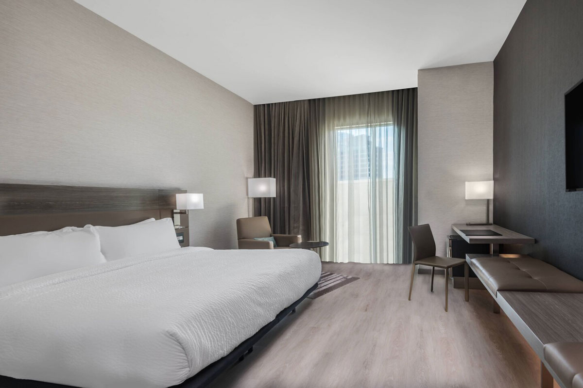 hotel room at doubletree nyx financial district presidents cup experiences accommodation