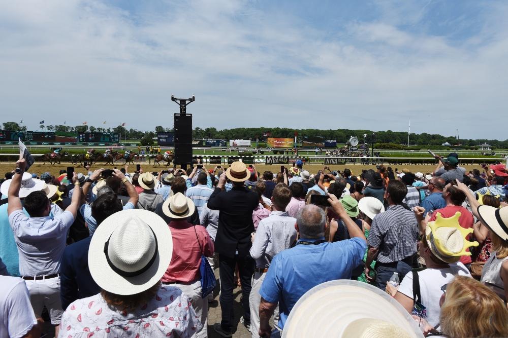Belmont Stakes Crowd Belmont Park