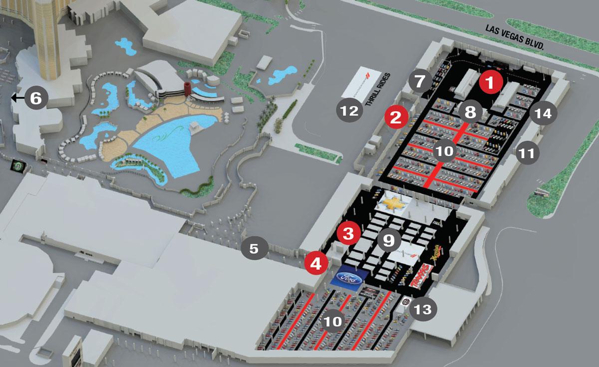 Barett-Jackson Las Vegas Map