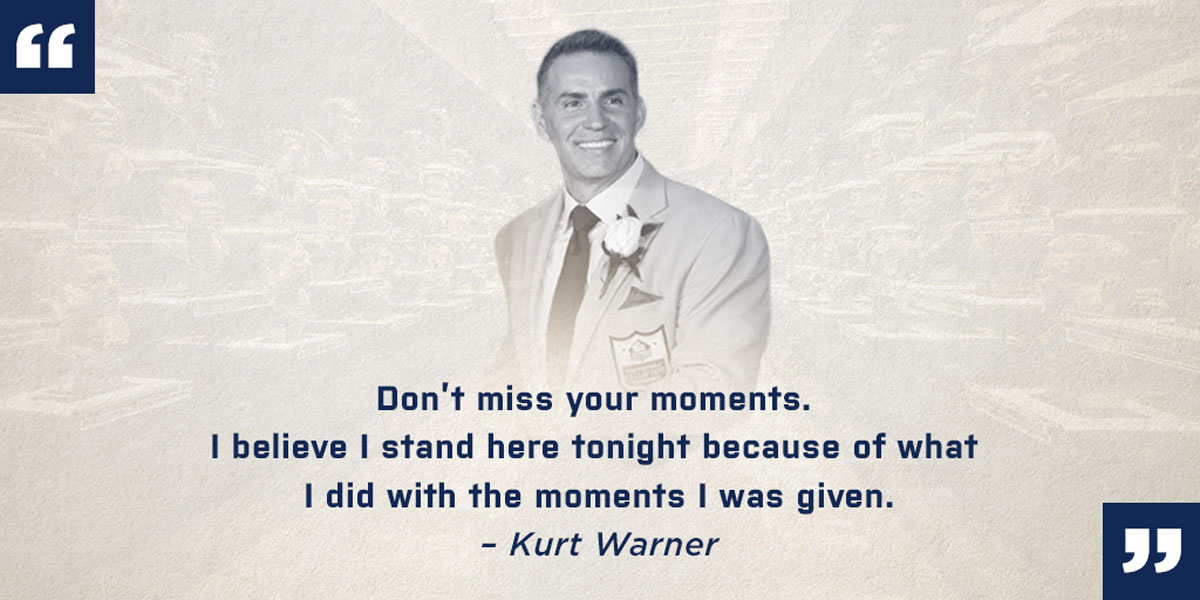 Kurt Warner Hall of Fame Quotes
