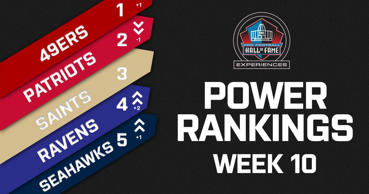 NFL Week 10 Power Rankings