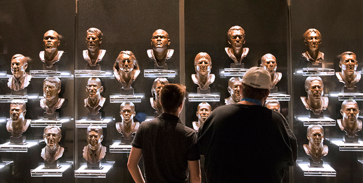 Pro Football Hall of Fame Busts