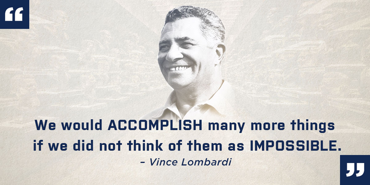 Vince Lombardi Hall of Fame Quote