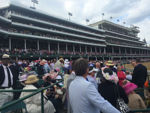 2014 Kentucky Derby Clubhouse Pink Seating Area
