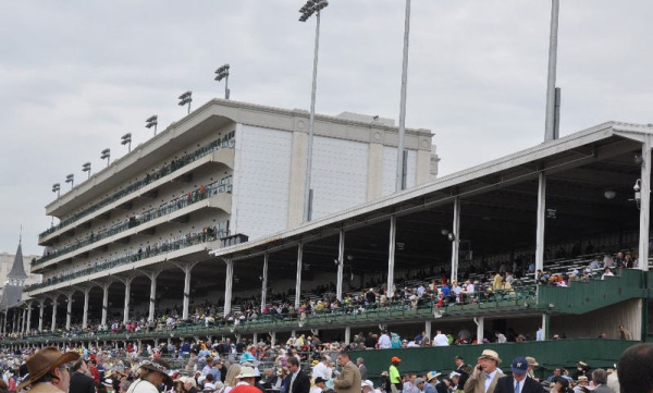 2014 Kentucky Derby Grandstand Orange Seating resized 600