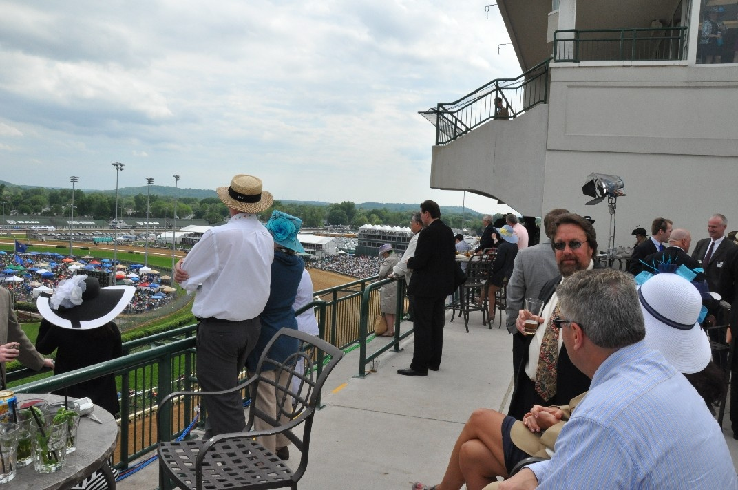 Trophy Room Balcony at Kentucky Derby