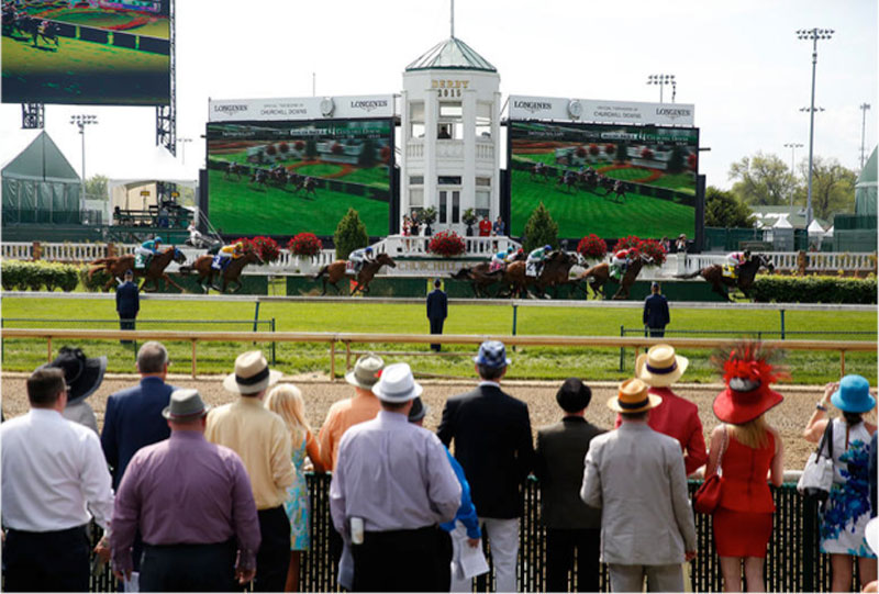 Clubhouse Courtyard at the Kentucky Derby