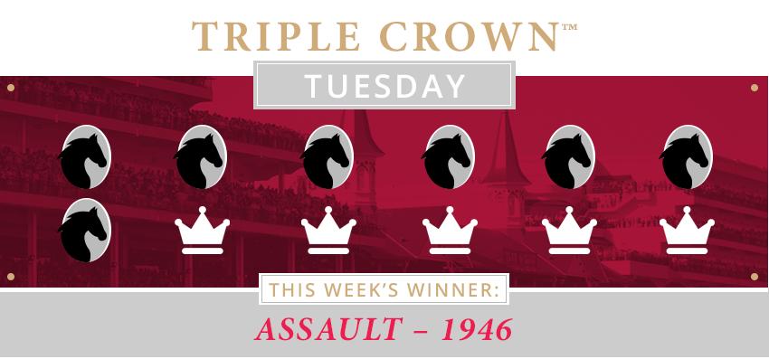 Triple Crown Winner for 1946 with Kentucky Derby