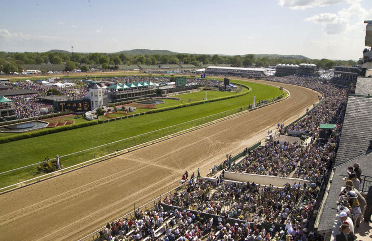 View From Derby Room at Kentucky Derby