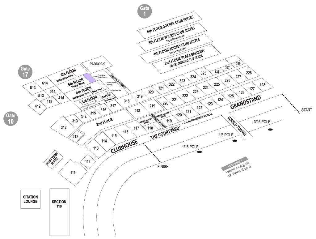 Finish Line Suites Seating Chart
