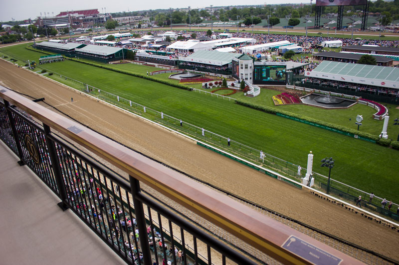 View of the Kentucky Derby from Millionaires Row