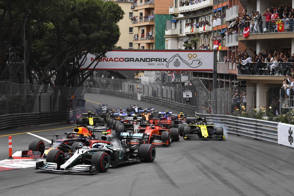 2019 Monaco Grand Prix start
