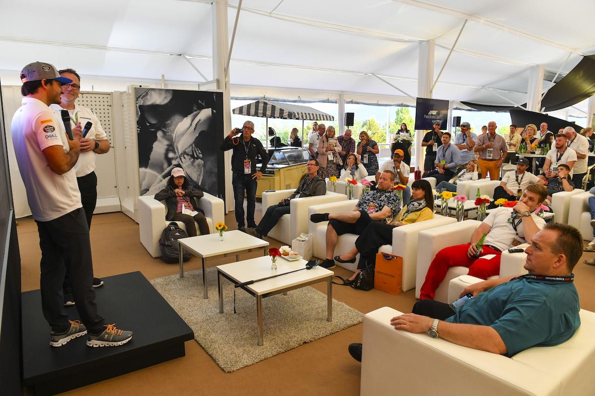 Paddock Club Reception Carlos Sainz